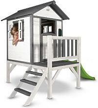 XXXLutz Spielhaus Lodge XL , Grau, Weiß, Holz,