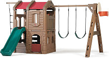 XXXLutz Spielturm Adventure Lodge , Braun, Grün,