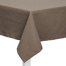 XXXLutz TISCHDECKE Textil Jacquard Taupe 135/170
