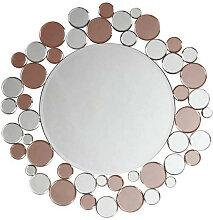 XXXLutz WANDSPIEGEL Rosa, Silberfarben , Metall,