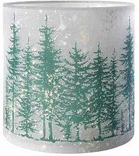 XXXLutz WINDLICHT , Grau, Grün, Glas, 20 cm