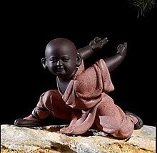 4 stück Kungfu Kleine Mönch Figuren Auto Innendekoration Tempel Mönche