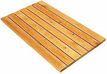XXZG Natürlicher Bambus Und Holz Badezimmermatte