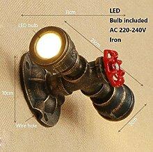 XY&XH Wandlampe, Art-Deco-Retro-Wasserpfeife