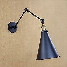 XY&XH Wandlampe, klassisches design antik schwarz