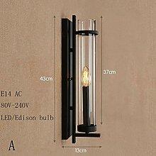XY&XH Wandlampe, Loft Eisen Wandleuchten