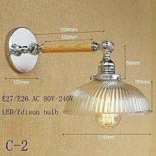 XY&XH Wandlampe, Loft Industrial LED Wandleuchte