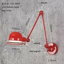 XY&XH Wandlampe, Loft Vintage Industrie Arm lang