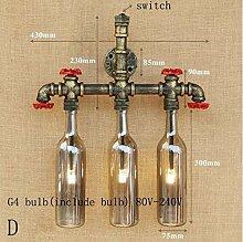 XY&XH Wandlampe, Retro glasschirm wandleuchte