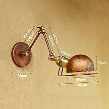 XY&XH Wandlampe, Rust Loft-Stil Industrielle