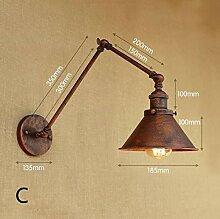 XY&XH Wandlampe, Vintage Industrie E27 Wandleuchte