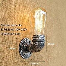 XY&XH Wandlampe, Vintage Loft wasserleitung