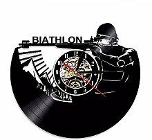 xyang Biathlon Ziel Vinyl Uhr Rekord Wanduhr Sport