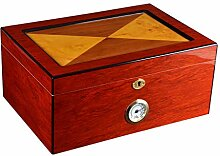XYLLL Cigar Box Humidor Zedernholz Futter, mit