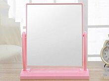XYLUCKY Mode Minimalist Desktop doppelseitigem Spiegel Kosmetikspiegel . l . pink