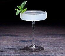 XYQSJR Glasbecher/Martiniglas, flach, bleifrei, 4