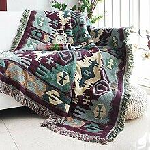 XYSFT Sofa Decke Bio Baumwolle Weich Sofa