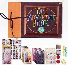 XYTMY bestickte Abdeckung unser Abenteuer Buch,