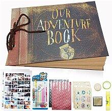 XYTMY graviert unser Abenteuer Buch, handgemachte