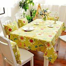 XYY Baumwolle Pflanze Blume Tischdecke