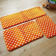 XYZ Anti - Skid - Teppich - Pad - Fußmatte Bad Matten Roter Teppich Korallen Tuch Absorbierende Boden Matten, Gelb exquisit ( größe : 50*80cm )