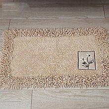 XYZ Baumwolle Mats Fußabtreter Küche Salon Badezimmer Badezimmer Teppich Verdicken Wasser Kufe Matte exquisit ( farbe : A , größe : 50*80cm )