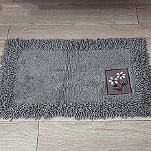 XYZ Baumwolle Mats Fußabtreter Küche Salon Badezimmer Badezimmer Teppich Verdicken Wasser Kufe Matte exquisit ( farbe : C , größe : 60*90cm )