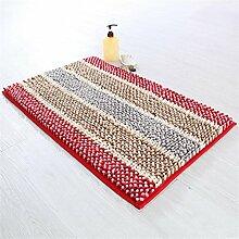XYZ Bunte Teppich Badezimmer Wasserabsorption Anti-Rutsch-Teppich Fußmatte Wohnzimmer Staubdicht Teppich exquisit ( farbe : A , größe : 50*80CM )