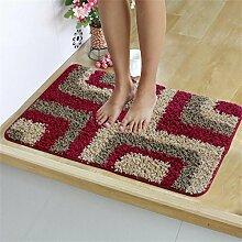 XYZ Einfache und moderne Teppich-Fußmatte Wohnzimmer Schlafzimmer Wasserabsorption rutschfester Matte Bad Teppich exquisit ( farbe : A , größe : 50cm×80cm )