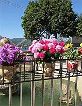 XYZ Eisen-Geländer Blumen-Topf-Regale, Hängepflanzen-Regal, Wand-Blumenständer für Balkon Empfindlich haltbar ( farbe : Bronze , größe : L-100cm )