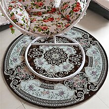 XYZ Europäische Art Rundschreiben Teppich Nachttisch Teppich Computer Drehstuhl Matte Haushalt Stuhl Kissen Kletterstuhl Teppich exquisit ( farbe : B , größe : 90*90cm )