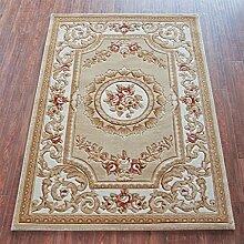 XYZ Europäischer und amerikanischer klassischer handgemachter dreidimensionaler Teppich, Schlafzimmer-Wolldecke-Auflage, rote Matte, 8 Farben-Wahlen exquisit ( farbe : D , größe : 1.33*1.9m )