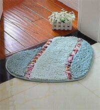 XYZ Herz Mats Badezimmer Landschaft Rose Matte Liebe Mats Schlafzimmer Teppich exquisit ( farbe : D , größe : 45*50cm )