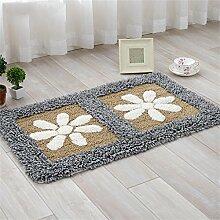 XYZ Kontinental Mats Pastoral Blumen Fußmatte Küche Salon Badezimmer Badteppiche Wasser Kufe Teppich exquisit ( farbe : K , größe : 45cm×70cm )