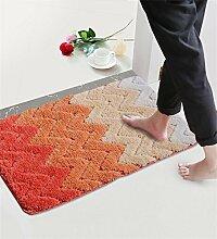 XYZ Kufe Mats Fußabtreter Schlafzimmer Badezimmer Mats Saugkissen Salon Teppich exquisit ( farbe : C , größe : 40×60 CM )
