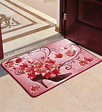 XYZ Mantel Teppich Bad Teppich Fußmatte Anti-Rutsch Matte Emulsion Teppich 40cm × 60cm exquisit ( farbe : A )