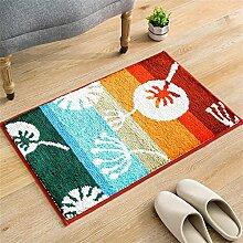 XYZ Mats Teppich Pad Absorbent Badezimmer Skid Teppich Wohnwasserdicht Dust In The Carpet exquisit ( farbe : B , größe : 45*65cm )