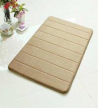 XYZ Memory Foam Mats Badezimmer Wasser Matte Küche Streifen Anti-Rutsch-Pad Die Tür Teppich 50 * 80cm exquisit ( farbe : E )