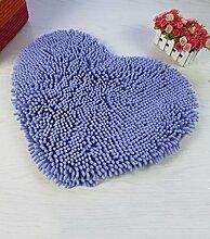 XYZ Nasse rutschfeste herzförmige Wolldecke, Badematte, saugfähige Matte für Bad, Türmatte (11 Farboptionen, 6 Größen optional, 30-80cm * 40-90cm) exquisit ( farbe : J , größe : 50*60cm )