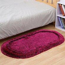 XYZ Oval Verdickung Teppich Nachttisch Kissen Wohnzimmer Couchtisch Teppich Verdickung Elastischer Draht Teppich Modern Minimalist Anti-Rutsch-Teppich exquisit ( farbe : F , größe : 80×160cm )