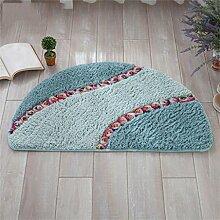 XYZ Rose Halbkreisförmig Mats Fußabtreter Saugkissen Badezimmer Küche Halle Kreativ Kufe Teppich exquisit ( farbe : A , größe : 40cm×60cm )