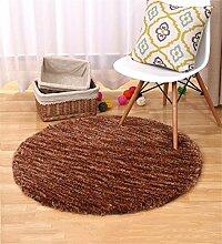 XYZ Rundschreiben Wohnzimmer Couchtisch Teppich Einfach Und Modern Schlafzimmer Computer Stuhl Kissen Staubdicht Anti-Rutsch-Teppich exquisit ( farbe : A , größe : 1*1m )