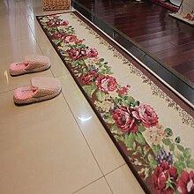 XYZ Rutschfeste rechteckige saugfähige Teppich-Auflage, Tür-Matte, Küche, Toilette, Badezimmer-Matte, 4 Farben-Wahlen exquisit ( farbe : A , größe : 45*180cm )