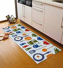 XYZ Umweltschutz Anti-Rutsch-staubdicht Öl-Beweis rechteckiger Teppich-Auflage, Tür-Matte, Küche-Matte, Fußboden-Matte, Badezimmer-Matte, Mehrfarben Optional exquisit ( farbe : 2 , größe : 45*120cm )