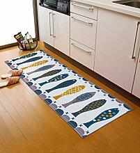 XYZ Umweltschutz Anti-Rutsch-staubdicht Öl-Beweis rechteckiger Teppich-Auflage, Tür-Matte, Küche-Matte, Fußboden-Matte, Badezimmer-Matte, Mehrfarben Optional exquisit ( farbe : 1 , größe : 50*80cm )