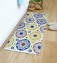 XYZ Umweltschutz Rutschfeste rechteckige Wollteppiche, Fußmatten, Küchenmatten, Fußmatten, Badmatte, Mehrfarbig Optional exquisit ( farbe : 6 , größe : 45*120cm )