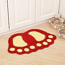 XYZ Umweltschutz Teppich Die Tür Wohnzimmer Schlafzimmer Teppich Badezimmer Anti-Rutsch-Teppich exquisit ( farbe : H , größe : 48cm*67cm )