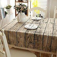 XYZG Tischdecke Tischwäsche Baumwolle und Leinen
