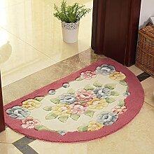 XYZHF*Eine Küche Schlafzimmer Badezimmer Tür Matte Matte saugfähige Matten Badematten 50 * 80cm Pink /a