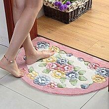 XYZHF*Eine Küche Schlafzimmer Badezimmer Tür Matte Matte saugfähige Matten Badematten 50 * 80cm Pink